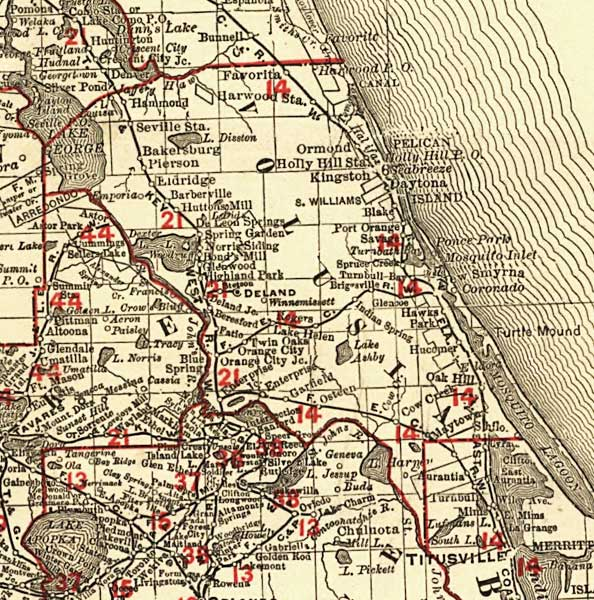Florida Map Cities.And County Orange Port Fl Map Cities