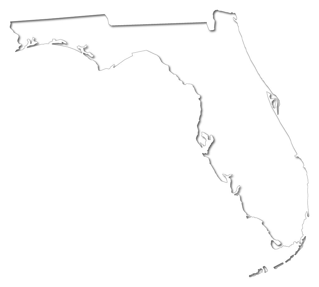 Florida Fancy Frame Style Maps In 30 Styles