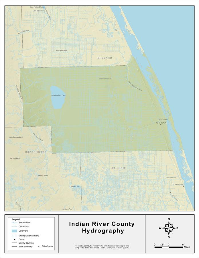 Vero Beach Florida Map.Indian River Vero Beach Florida Map