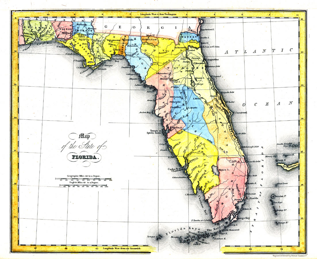 Map Of The State Of Florida Ad