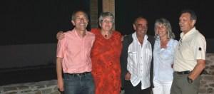 La présidente et les 4 derniers présidents du FCL Feytiat