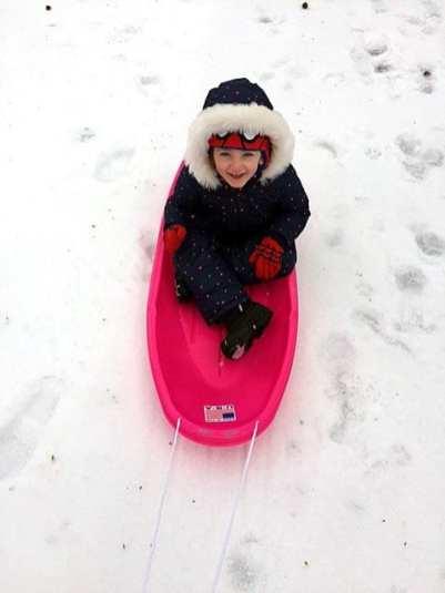 Four-year-old Bridget Edwards enjoying the snow in Winter Hill. (Photo: Kelli Edwards)