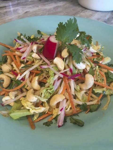 The Sweet & Sour Goi Chay, conceived by Weiss' sister, was inspired by Vietnamese cuisine. (Courtesy Photo)