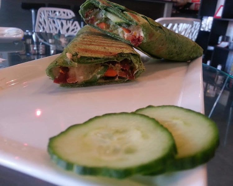 House of Steep's Veggie Wrap is hearty and packed with sweet, refreshing ingredients. (Photo: News-Press)