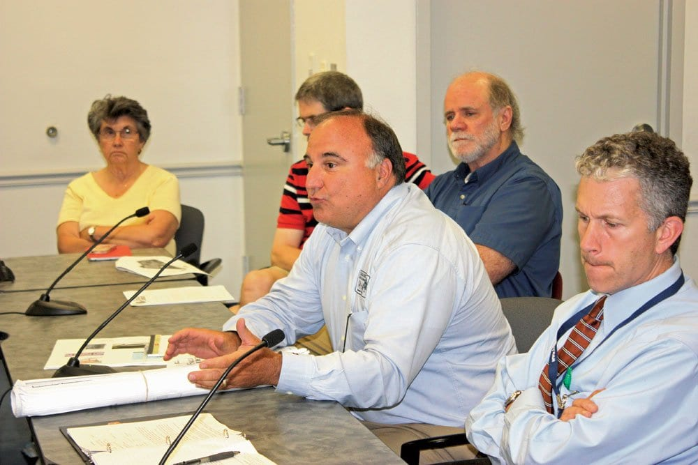 DANNY SCHLITT, director of the Falls Church Department of Recreation and Parks, presented the plans for West End Park to the F.C. City Council last week. He was accompanied by members of the City's Rec and Parks Advisory Board. (Photo: News-Press)
