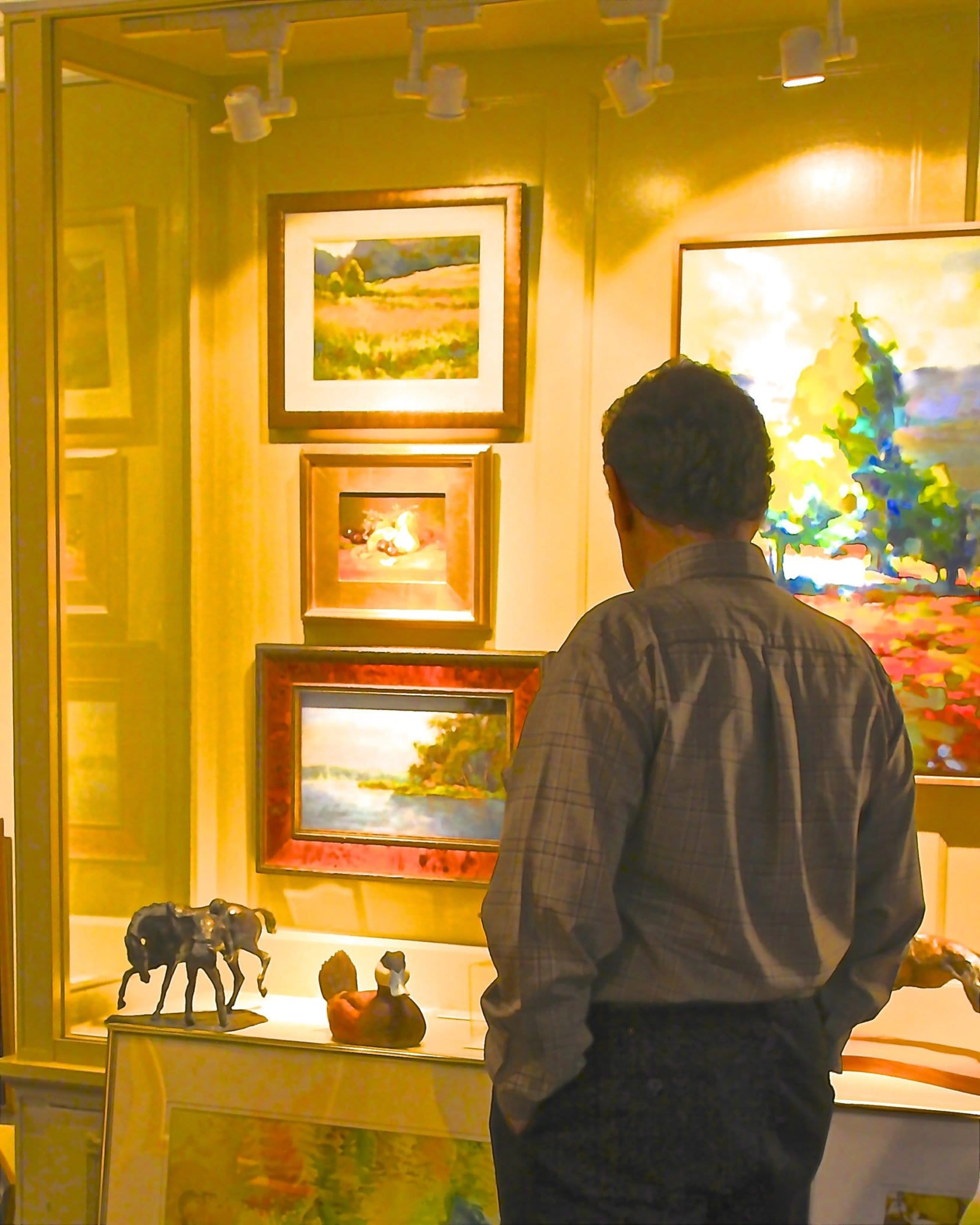 The debut exhibition of Fine Arts Professionals of Northern Virginia featured the work of 26 artists, including two from Falls Church. (Photo: Donna Clark)