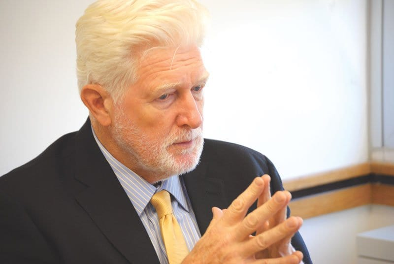U.S. REP. JAMES P. MORAN visited the offices of the News-Press for an exclusive interview yesterday where he provided his rationale for supporting President Obama's desire to launch a limited military attack on Syria to punish the Assad regime for its use of chemical weapons. (Photo: News-Press)