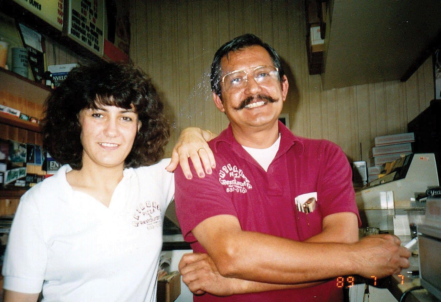 ANTHONY AND FAYE Yiannarakis at Anthony's in 1989. (Courtesy photo)