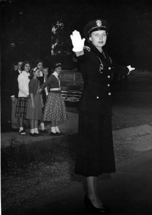 Crossing guard circa 1955