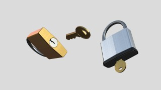3D Padlocks Made in Motion with ZZSC  Padlocks font