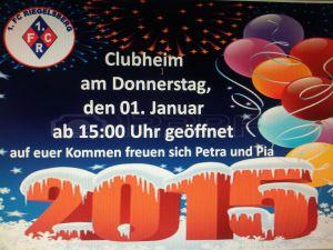 Clubheim des 1.FCR unter neuer Regie