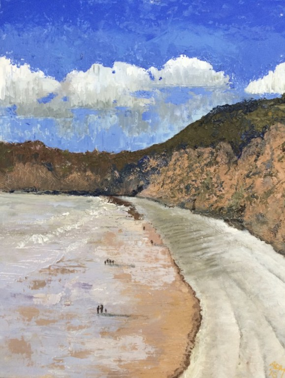 Andrew Milligan - Sidmouth from the cafe window