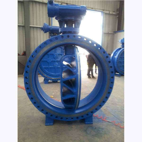 Triple eccentric hard seal butterfly valve WCB 150