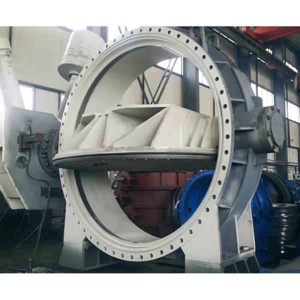 Butterfly valve with heavy hammer or hydraulic adjustment,