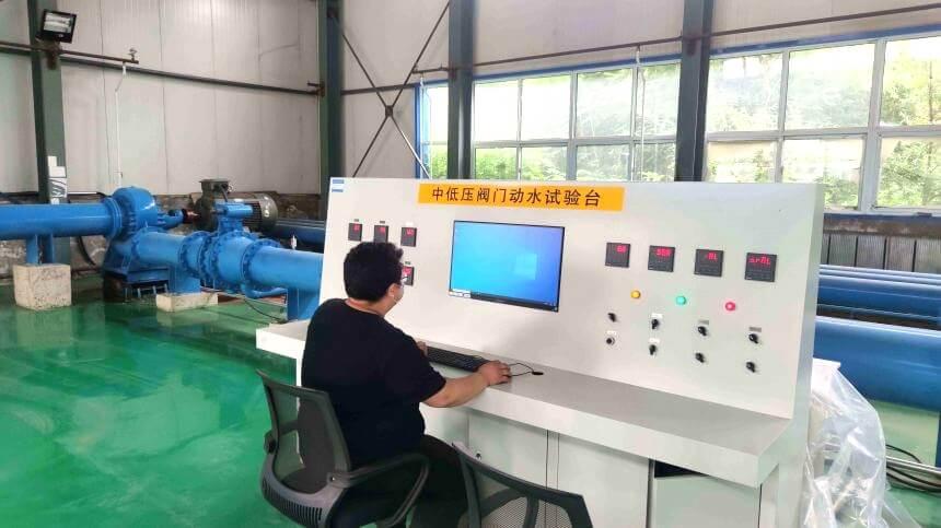 Valve liquid pressure testing equipment