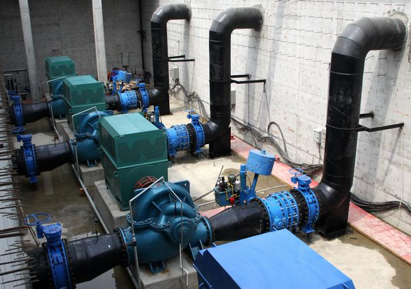 Butterfly valve group for water plant