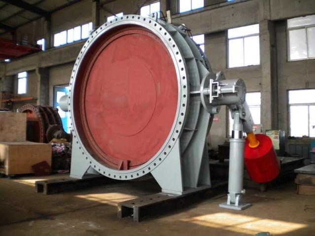 FCV-Heavy hammer hydraulic control check butterfly valve inlet valve 1