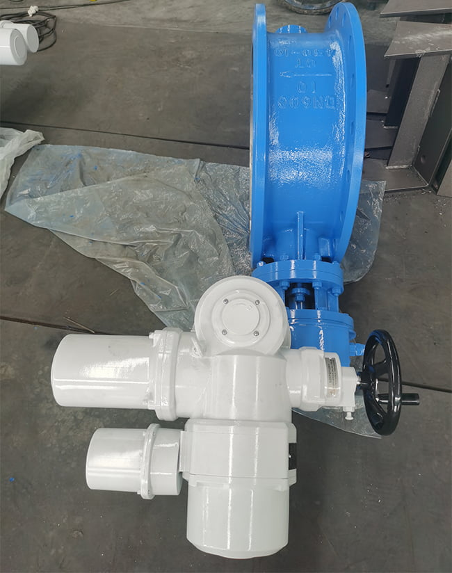 TIELING FCV electric butterfly valve DN600 PN10