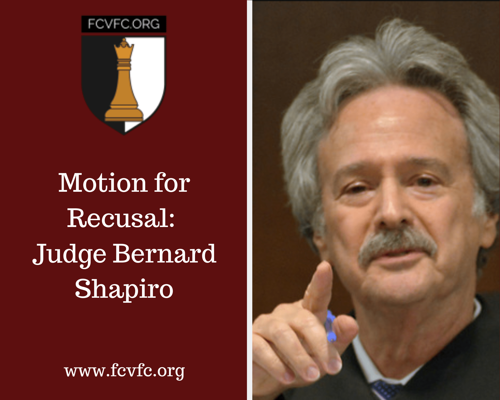 Motion for Recusal: Judge Bernard Shapiro