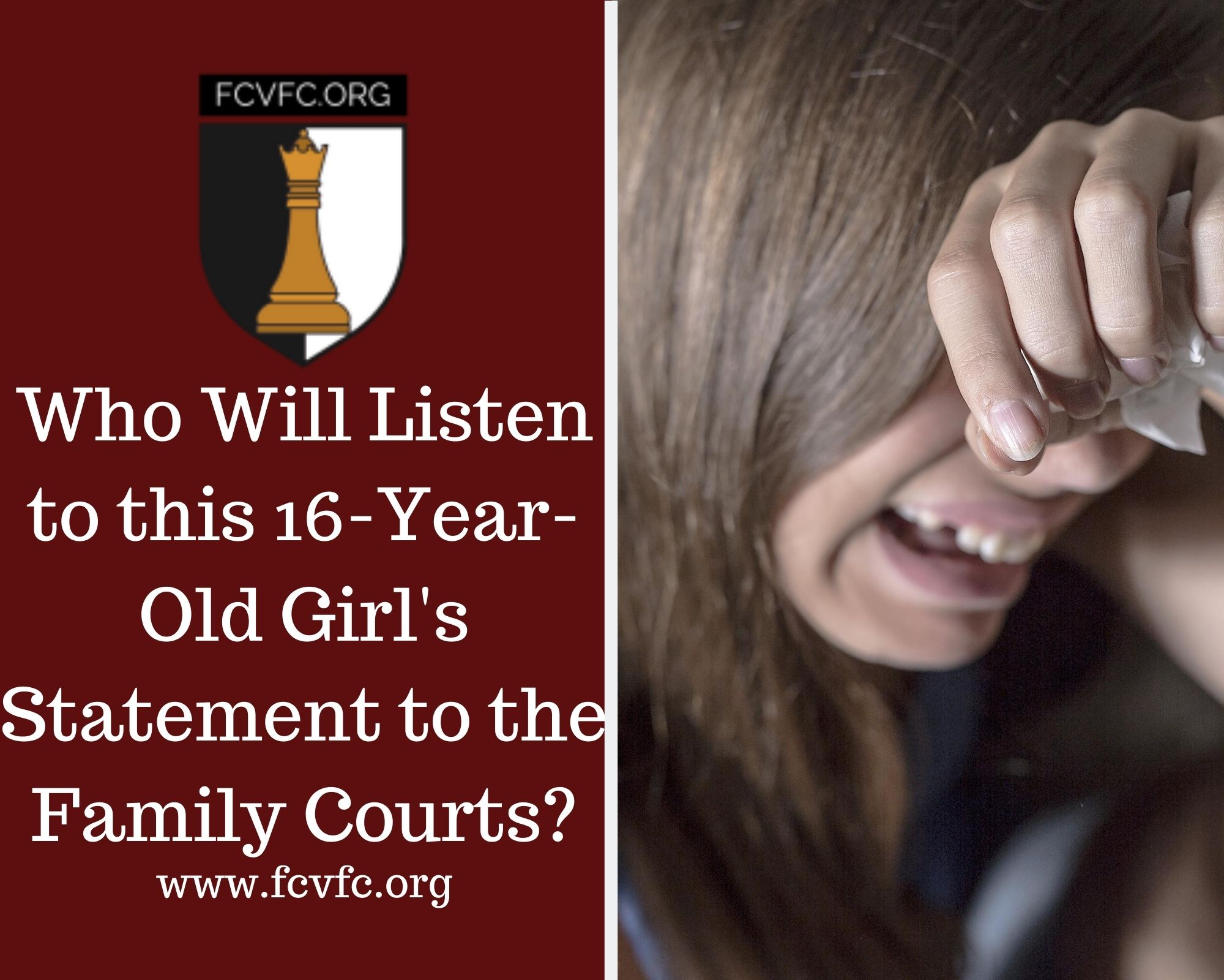 Who Will Listen to This 16-Year-Old Girl's Statement to the Family Courts?
