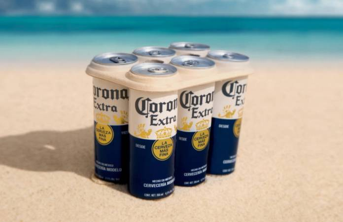 Corona launches eco-friendly plastic-free six pack rings