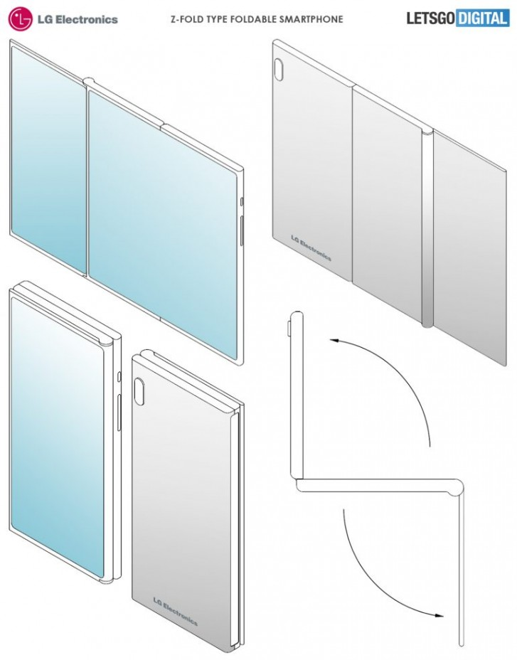 LG patents a three-piece, two-display foldable screen phone