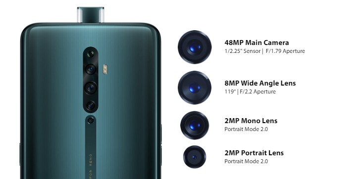 Oppo Reno2, Reno2 Z and Reno 2 F announced with quad cameras all around