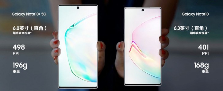 Samsung Galaxy Note10 line unveiled in China, available for pre-order satrting today