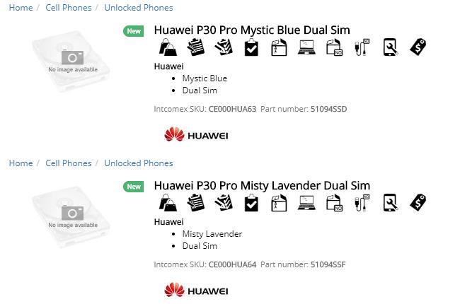 O Huawei P30 Pro também está recebendo duas novas cores - Misty Lavender e Mystic Blue