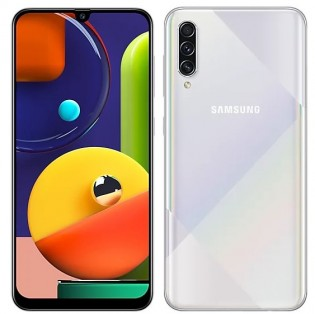 Samsung Galaxy A50s en couleur Prism Crush White