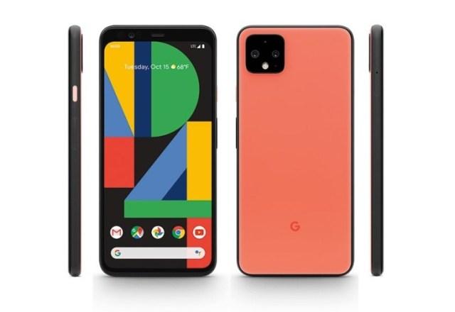 Google Pixel 4 afișat în randuri