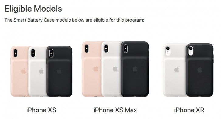 Apple begins battery replacement program for iPhone XR, XS, and XS Max Smart Battery Case