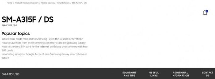 Galaxy A31  Site russo da Samsung sugere que o lançamento do Galaxy A31 está próximo gsmarena 001
