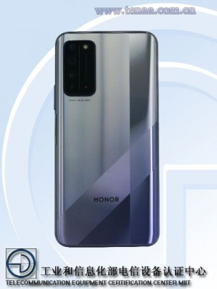 Honor X10 images shared by TENAA