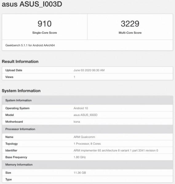 Asus ROG Phone III 12GB RAM variant surfaces on Geekbench