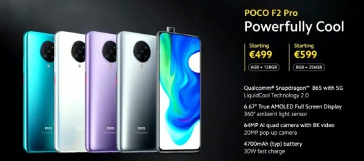 Poco F2 Pro unveiled with S865 chipset, 6.67'' Super AMOLED screen and 64MP camera