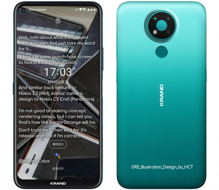 Nokia 3.4 wird in blauer Farbe angezeigt