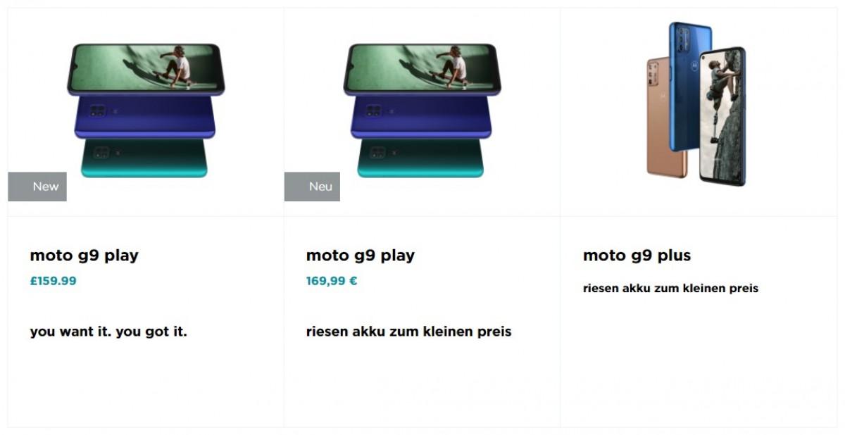 Motorola G9 Play hadir ke Eropa dengan harga £ 160 / € 170, Moto G9 Plus dan E7 Plus akan segera menyusul