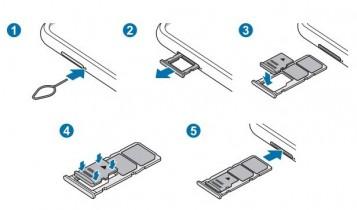 Detail kamera dan detail slot SIM