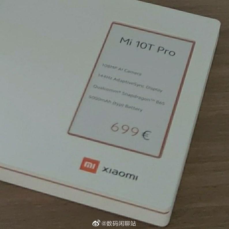 Xiaomi Mi 10T Pro, 699 € 'ya mal olacak Avrupa'ya varacak