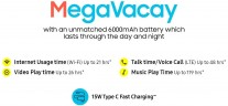 6,000 mAh battery