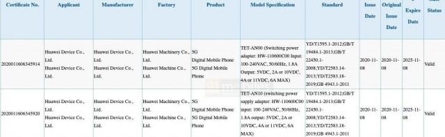 Huawei TET-AN00 / TET-AN10 (Mate X2) pada 3C