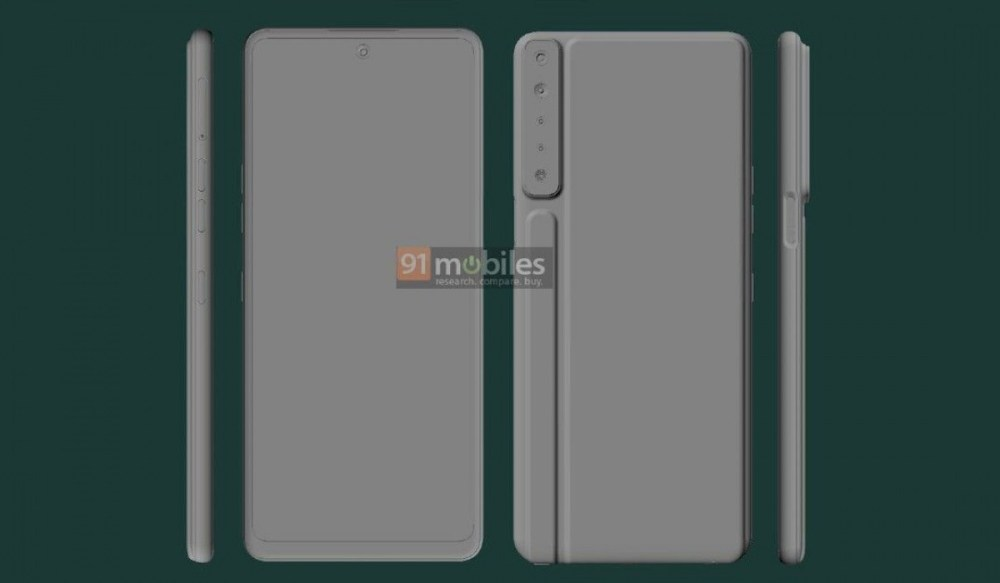 LG Stylo 7 renders show ridged design with four cameras and sylus