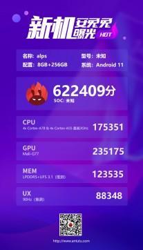 MediaTek's MT6893 edges out Snapdragon 865 in AnTuTu test