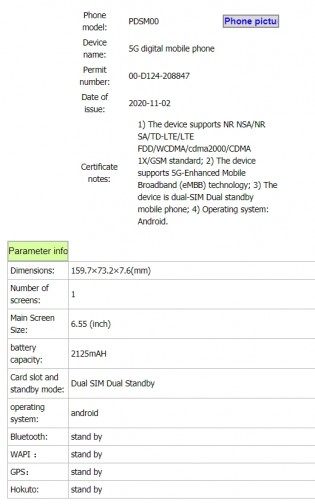 Oppo PDSM00/PDST00 listing on TENAA