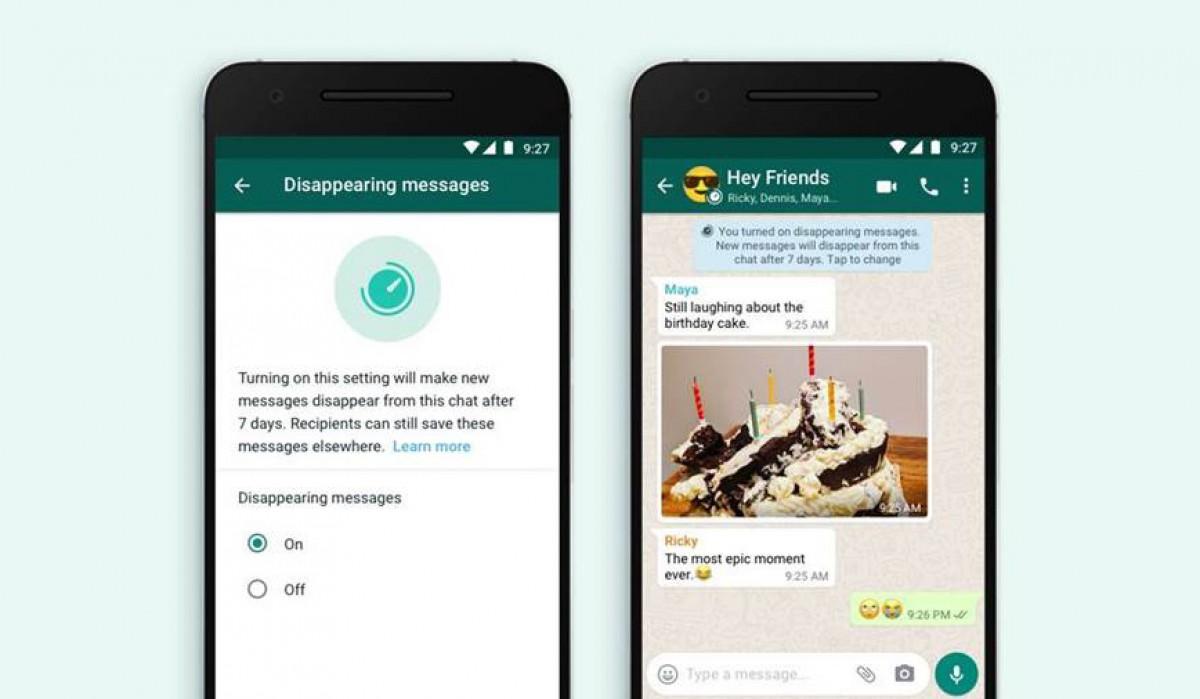 Pesan menghilang WhatsApp menuju ke iOS