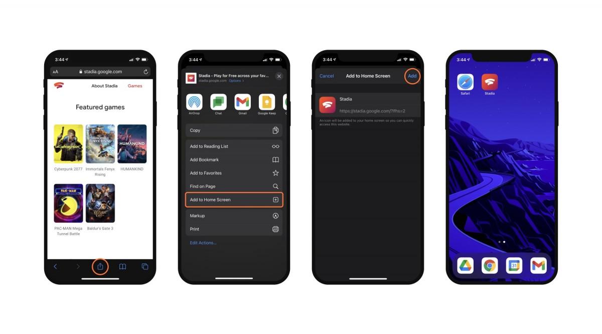 Google Stadia goes live on iOS via web app