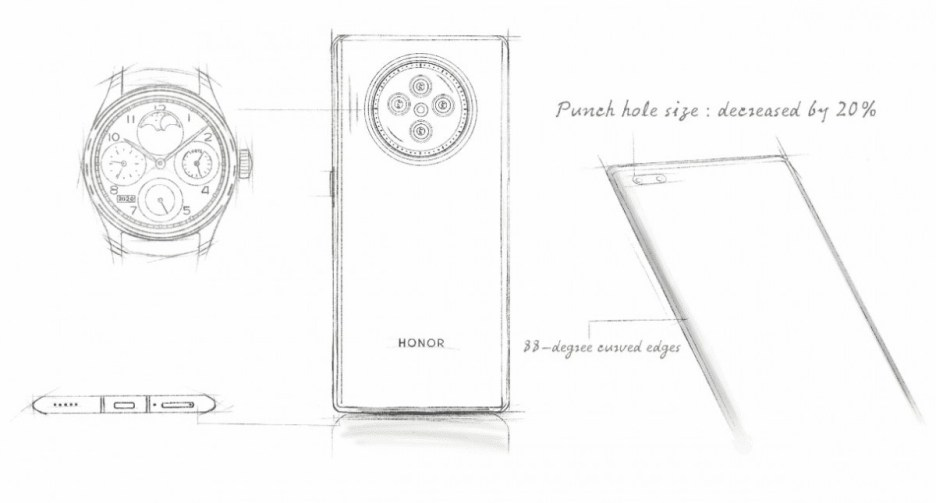 Honor V40's leaked renders show the design in full
