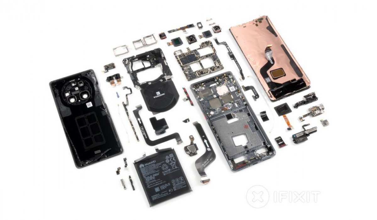 Huawei Mate 40 Pro's iFixit teardown ends with a mediocre repairability rating