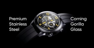 Watch S Pro has a stainless steel case and the straps are offered in four colors